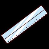 文房具のイラスト(定規)