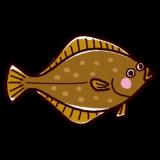 魚のイラスト(鰈・カレイ)