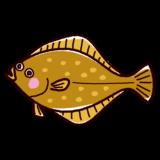 魚のイラスト(鮃・ヒラメ)