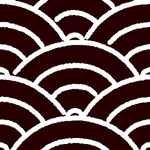 和柄のイラスト(青海波模様・せいがいは)