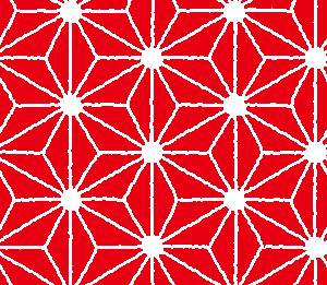 和柄のイラスト(麻の葉模様・あさのは)(6カラー)
