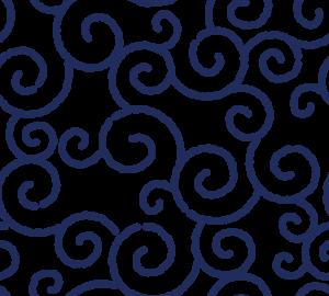 和柄のイラスト(唐草模様・からくさ)