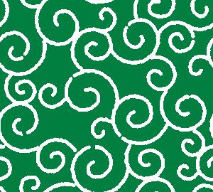 和柄のイラスト(唐草模様・からくさ)(4カラー)