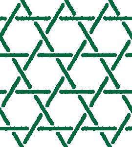 和柄のイラスト(籠目模様・かごめ・編み込み)(6カラー)
