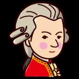 モーツァルトの似顔絵イラスト