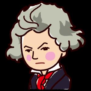 ベートーベンの似顔絵イラスト