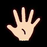 指のイラスト(五本指・パー)