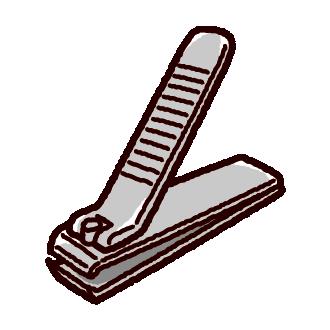 爪切りのイラスト(3カット)