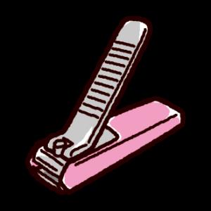 爪切りのイラスト