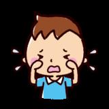 泣くイラスト(男の子)