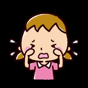 泣くイラスト(女の子)