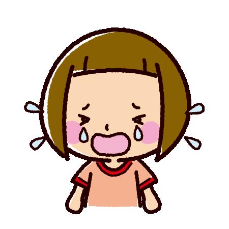 泣くイラスト(女の子)(2カット)