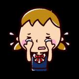 泣くイラスト(女子)