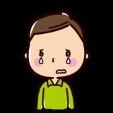 泣くイラスト(男性)