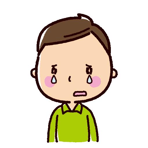 泣くイラスト(男性)(2カット)