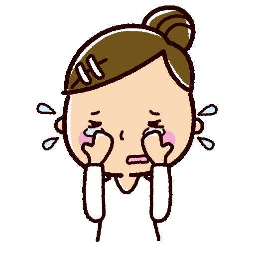 泣くイラスト(女性)(2カット)