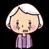 泣くイラスト(おばあさん)