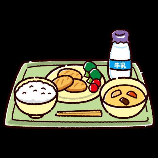 学校給食のイラスト(ご飯)(2カット)