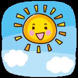 天気のイラスト(太陽)