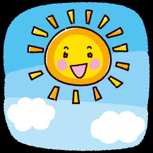 天気のイラスト(太陽・晴れ)(2カット)