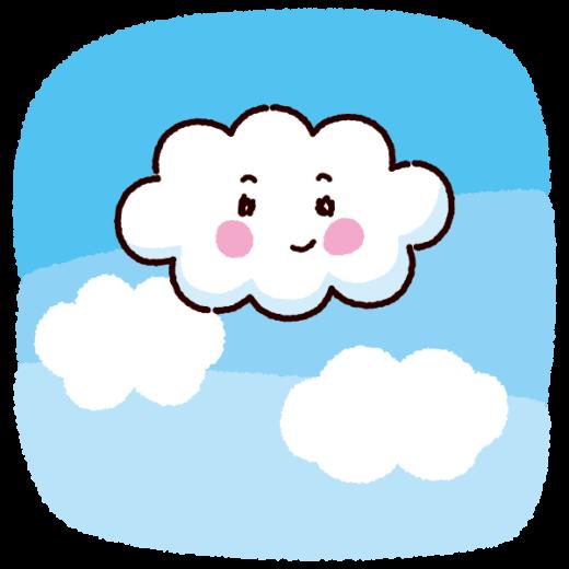天気のイラスト(雲・晴れ)(2カット)