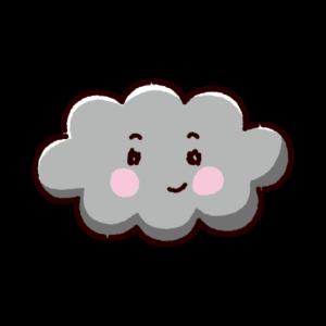 天気のイラスト(雲)