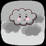 天気のイラスト(曇り)