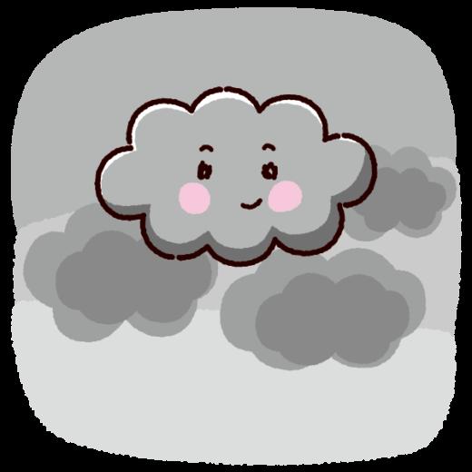 天気のイラスト(雲・曇り)(2カット)