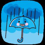 天気のイラスト(雨)