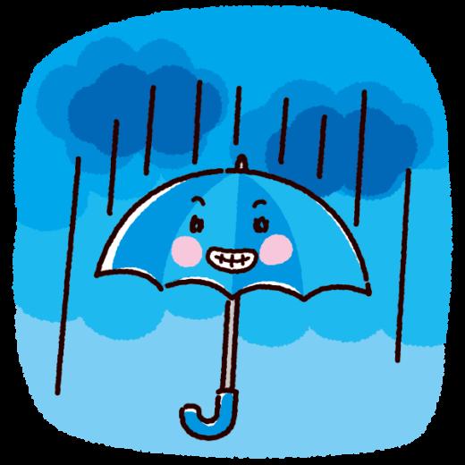 天気のイラスト(傘・雨)(2カット)