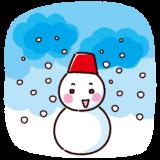天気のイラスト(雪)