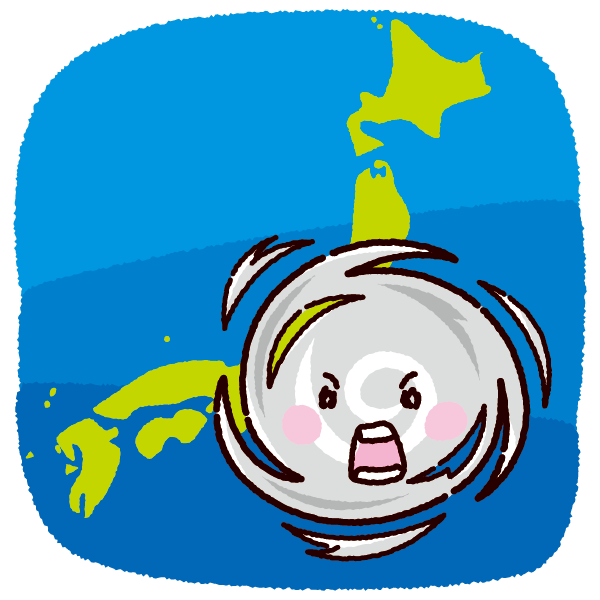 「イラスト 台風」の画像検索結果