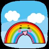 天気のイラスト(虹)