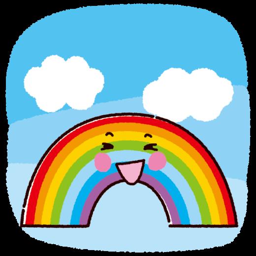 天気のイラスト(虹・雨上がり)(2カット)