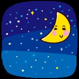 天気のイラスト(夜)