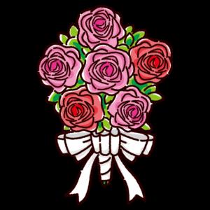 ブーケのイラスト(花束)
