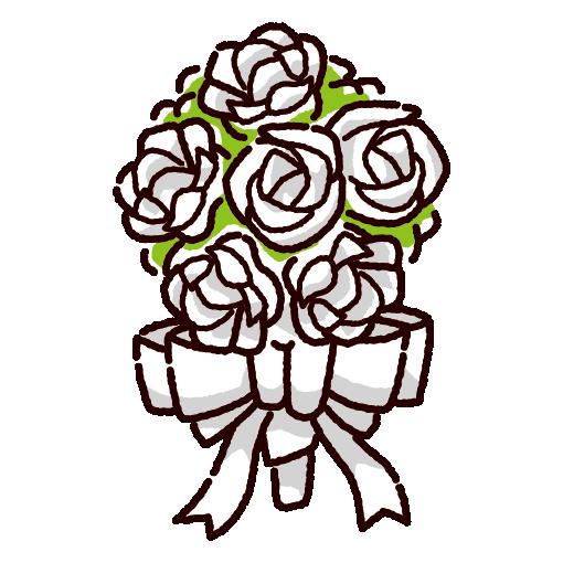 かわいいブーケのイラスト花束3カラー イラストくん