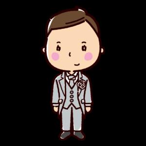 結婚式のイラスト(新郎)