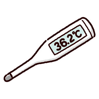 体温計のイラスト(2カット)