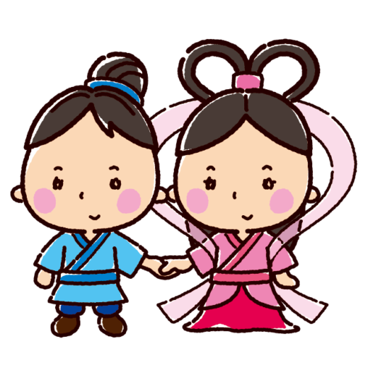 織姫と彦星のイラスト(七夕)(3カット)