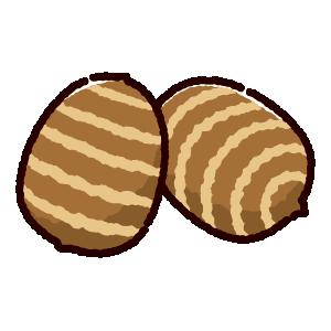 里芋のイラスト(2カット)