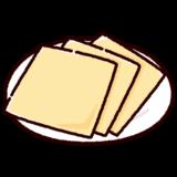 チーズのイラスト(スライス)