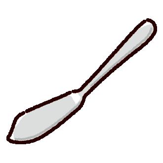 バターナイフのイラスト(カトラリー)