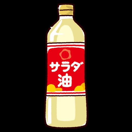 油のイラスト(サラダ油)