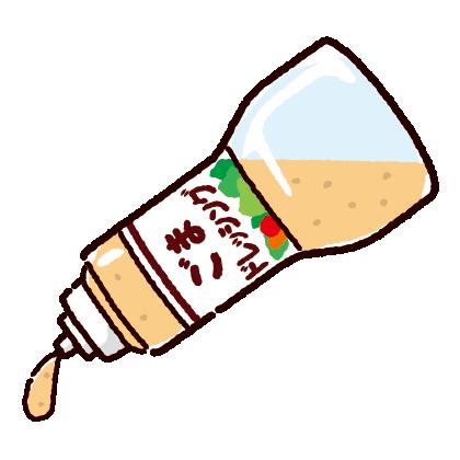 ドレッシングのイラスト(ごま)
