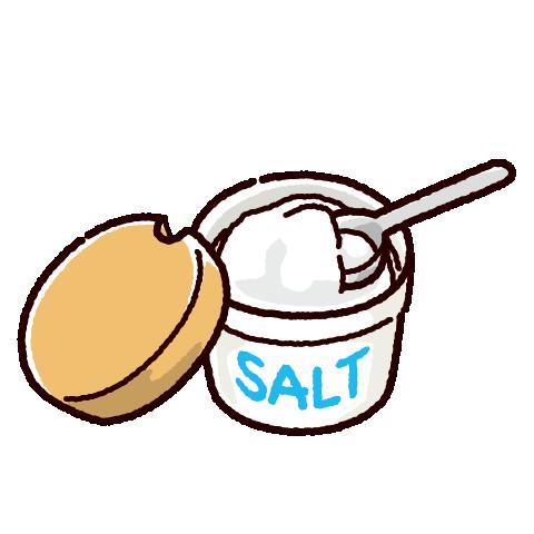 塩のイラスト(3カット)