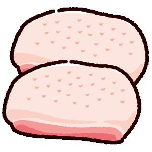鶏肉のイラスト(もも肉)(2カット)