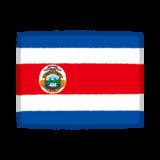 国旗のイラスト(コスタリカ)