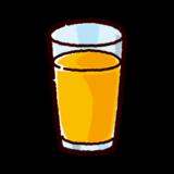 ジュースのイラスト(オレンジ)