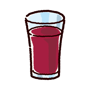 ジュースのイラスト(グレープ)(4カット)